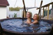 Карпатский чан и баня на берегу Днепра