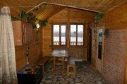 Деревянная баня и кафе